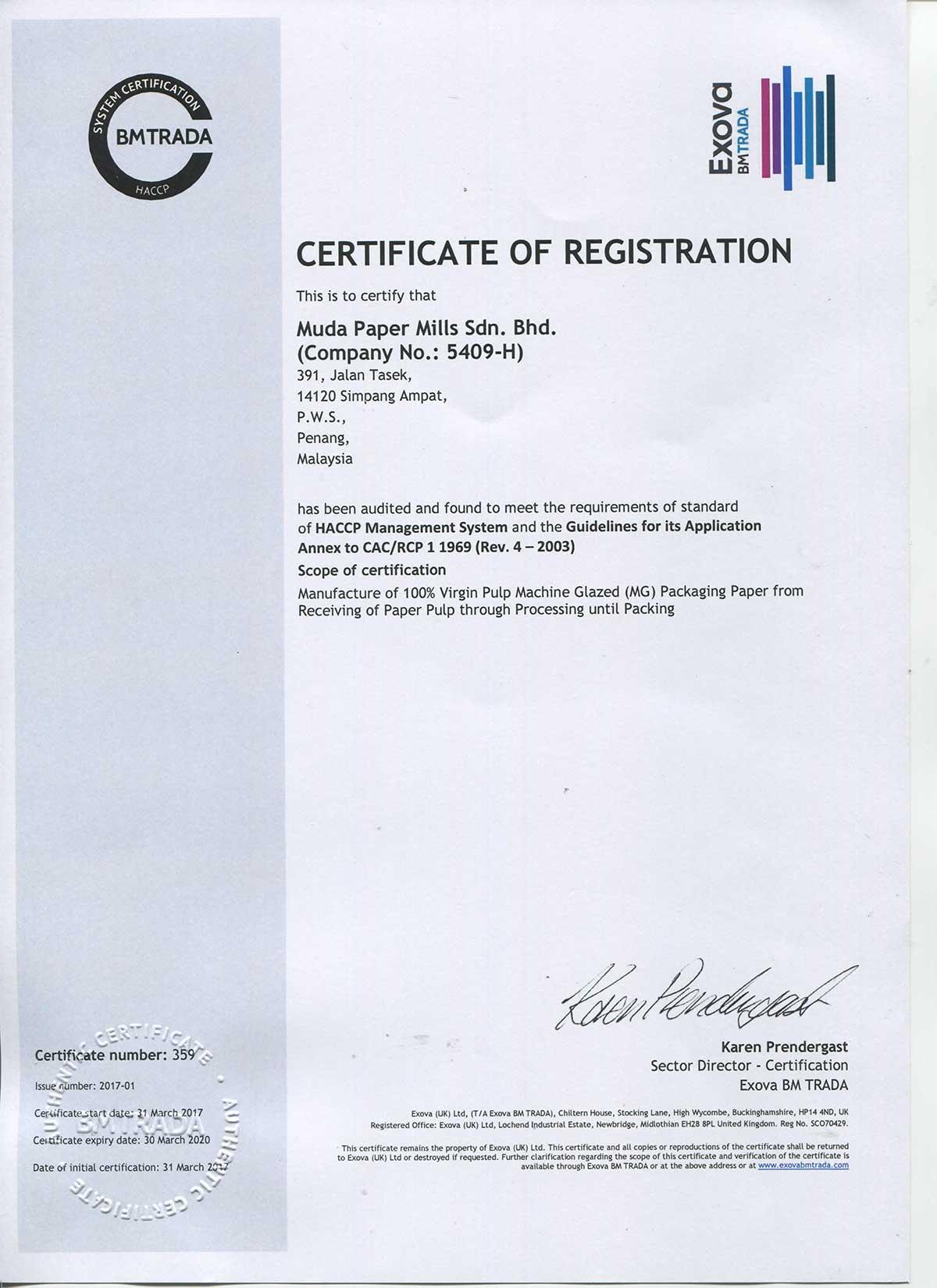 HACCP-cert-Muda-Paper-Mills