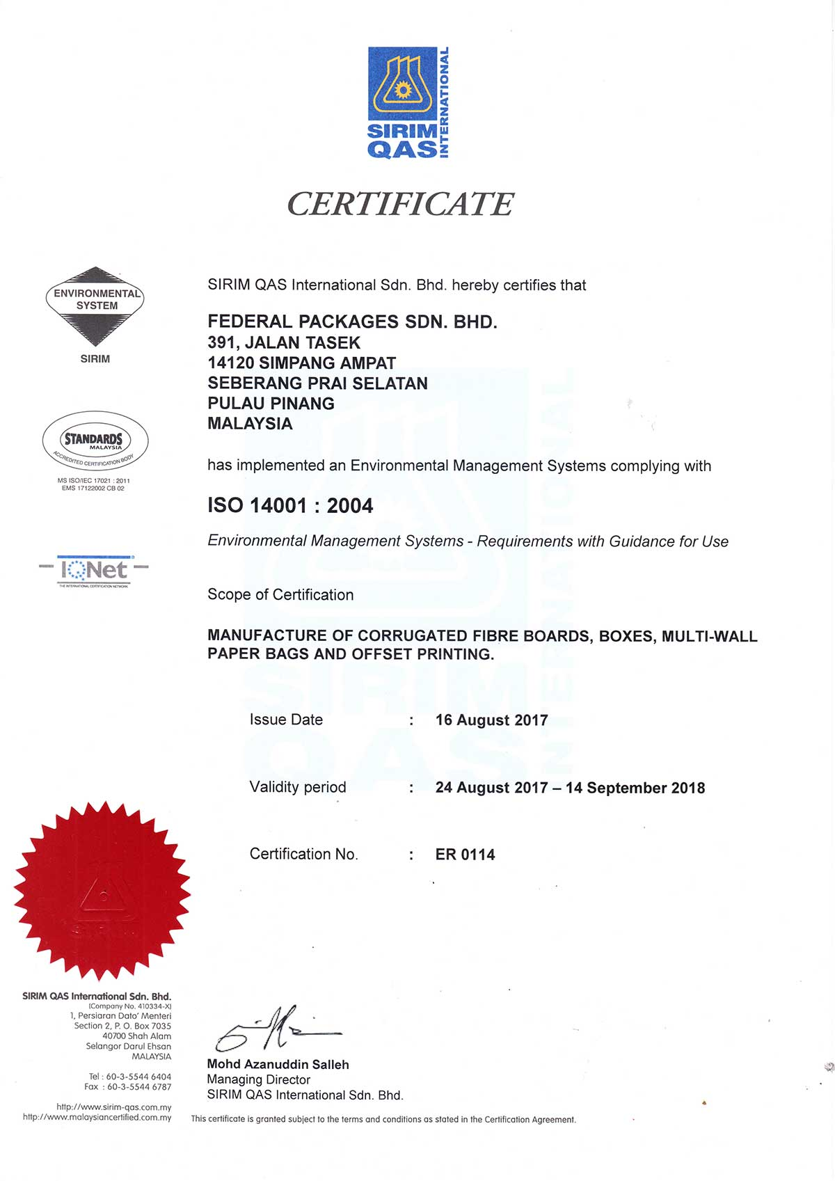 ISO-14001-2004-Federal-Packaging-Sdn-Bhd