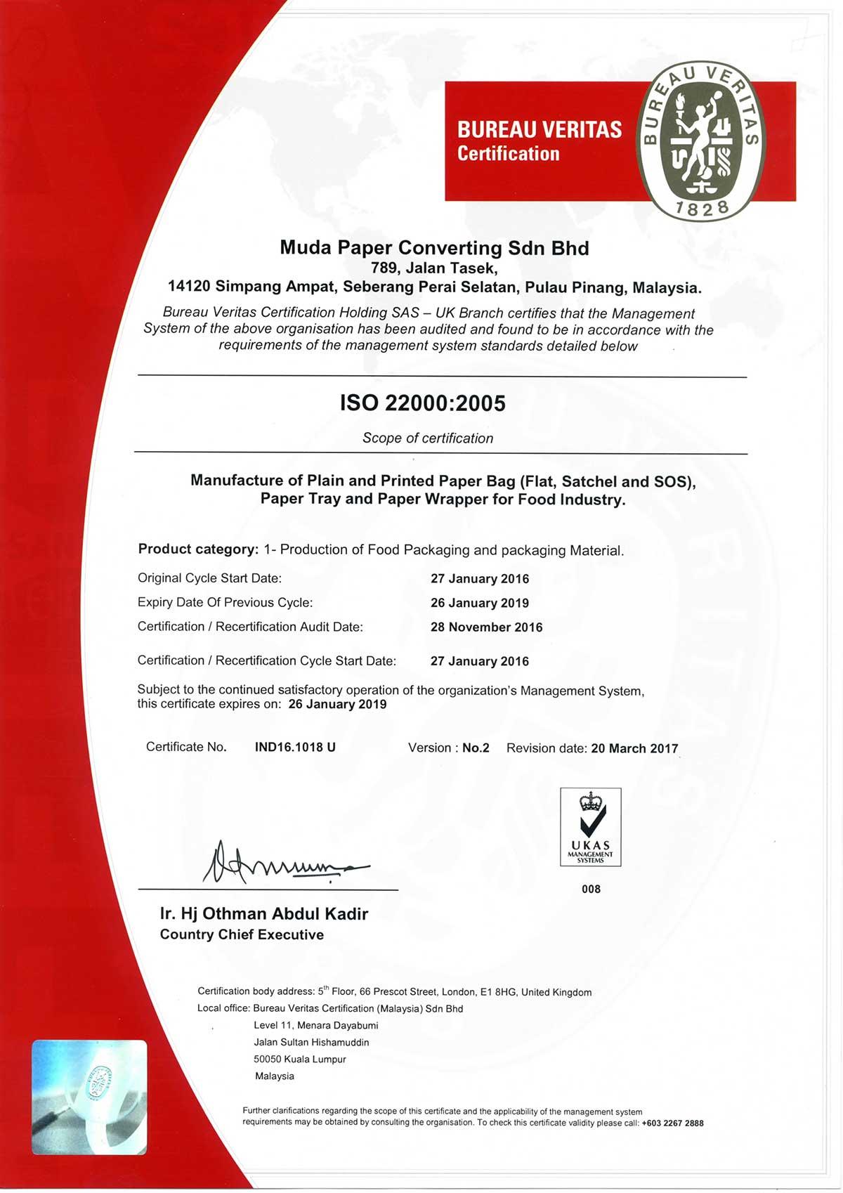 ISO22000-2005-Muda-Paper-Converting-Sdn-Bhd